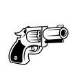 detailed gun - revolver pistol vector image