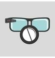 Digital glasses wifi medical pharmacy vector image