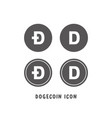 dogecoin cryptocurrency icon simple flat style vector image vector image