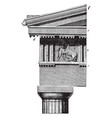 doric order frieze the parthenon at athens vector image vector image