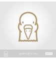 Dove outline thin icon Animal head symbol vector image vector image