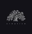 elegant tree logo vector image