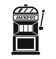 Gamble machine icon simple style vector image vector image