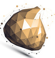 Gold 3D abstract design object polygonal vector image