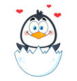 happy baby penguin cartoon character vector image vector image