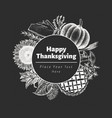 happy thanksgiving day logo template hand vector image