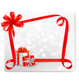 Holiday background with red gift bow with gift vector image vector image