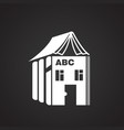 house of alphabet on black background vector image