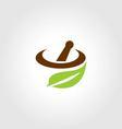 leaf Logo Restaurant vector image