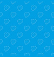lgbt heart symbol pattern seamless blue vector image
