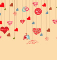 love hearts background vector image vector image