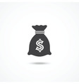Money bag icon vector image vector image