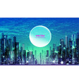 night city skyline and sunset vector image vector image