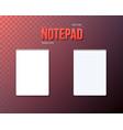 notepad set realistic empty notepad mockup vector image vector image