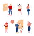 office people set employees use agile methodology vector image vector image