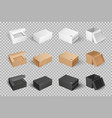 parcel with adhesive tape 3d isometric icon vector image