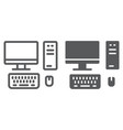pc line and glyph icon technology and computer vector image vector image