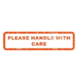 Please Handle With Care Rubber Stamp vector image vector image
