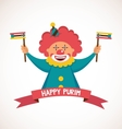 purim template design jewish holiday vector image vector image