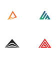 pyramid logo and symbol business abstract design vector image vector image