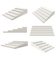 realistic detailed 3d template blank white stairs vector image vector image