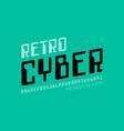 retro computer style font vector image