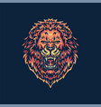 roaring lion vector image
