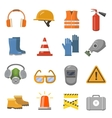 Safety work flat icons set vector image vector image