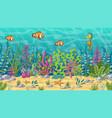 seamlees underwater landscape vector image vector image