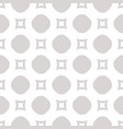 seamless pattern with circles and squares light vector image vector image
