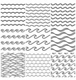 seamless water waves pattern sea wave ocean vector image