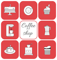 Set of coffee items vector image vector image