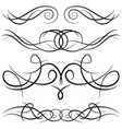 set of vintage decorative curls vector image vector image