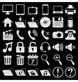set web and media icons vector image vector image