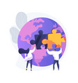 social participation abstract concept vector image vector image