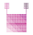 stadium tribune with seats and light mast icon vector image vector image