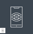 surveillance smartphone related line icon vector image vector image