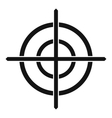 Target crosshair icon simple style vector image vector image
