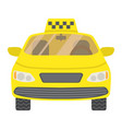 taxi car flat icon transport and automobile vector image