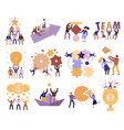 teamwork cartoon set vector image vector image