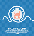 Turkish architecture mosque sign Blue and white vector image