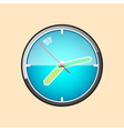 Wall Clock Isolated on Yellow Background vector image