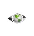 World map in eye vector image