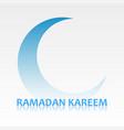 ramadan kareem card with crescent symbol vector image