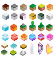 game assets isometric texture bricks and magic vector image