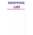 Shopping list template vector image