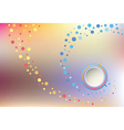 Spiral abstraction on mesh backdrop vector image
