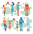 antivirus characters in different situations vector image