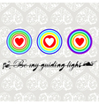 Be my guiding light vector image vector image