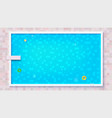 blue ripped water in swimming pool top view big vector image vector image